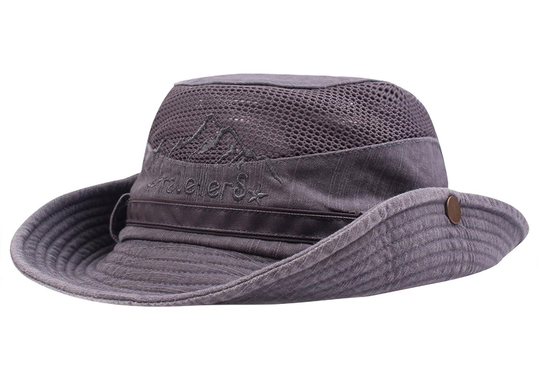 Aivtalk Hiking Boonie Hat Mesh Sun UV Protection Bucket Cap for Camping Fishing