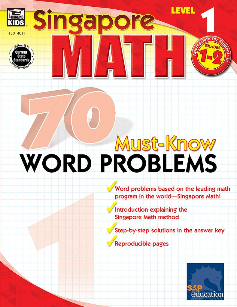Amazon.com: 70 Must-Know Word Problems, Grades 1 - 2 (Singapore Math ...