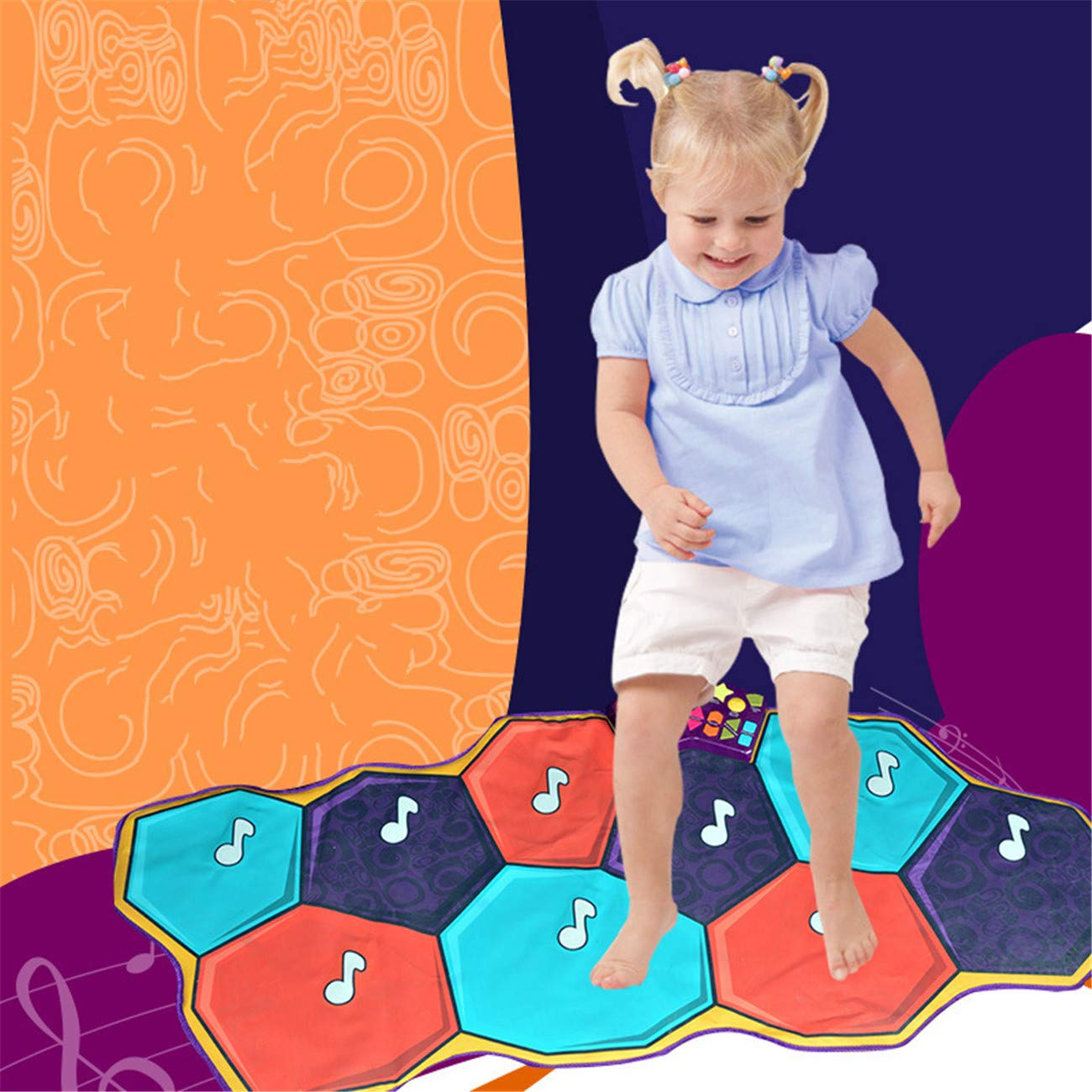 Dance mat children's game blanket sports hot dance children crawling mat music dance blanket by Shwk (Image #3)