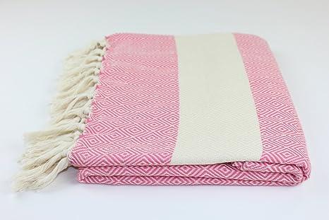 Diamante grande alfombra Peshtemal manta turco toalla de playa Picnic manta fabricada a mano 100%