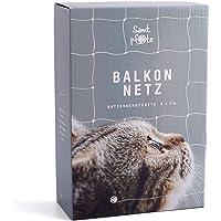 Samtpfote® Kattnät för balkong och fönster – premiumkvalitet – extra stort 8 x 3 m kattskyddsnät – balkongnät…