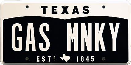 Celebrity Machines Fast N Loud Texas Monkey Garage - Placa de matrícula con sello de metal: Amazon.es: Coche y moto