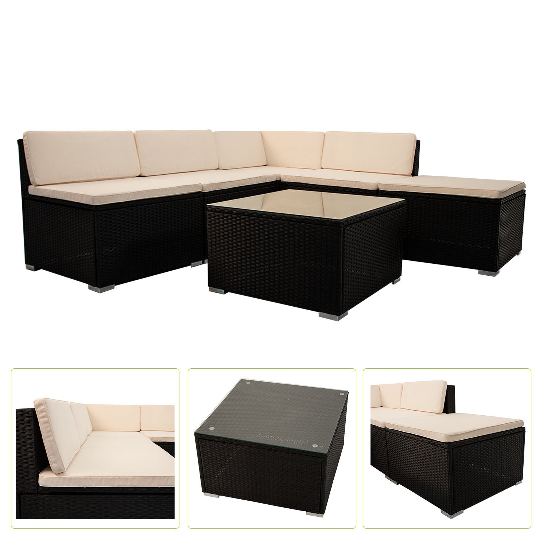 Polyrattan Gartenmöbel Lounge Sitzgruppe South Beach L günstig ...