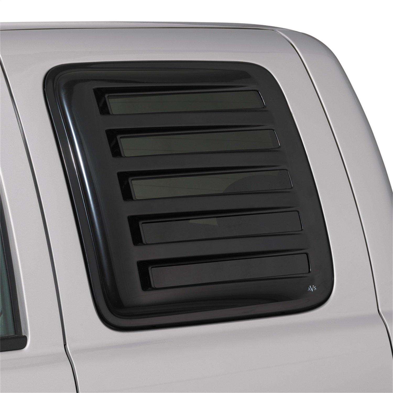 Auto Ventshade 83457 Aeroshade Louvered Window Covers F-250 Black Finish for 1992-1996 Ford F-150 F-350