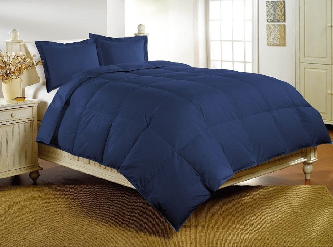Sao's Silvalinen Ultra Soft Comforter 200 GSM 800 Thread Count 100% Egyptian Cotton Solid Full Navy Blue by Sao's Silvalinen (Image #1)