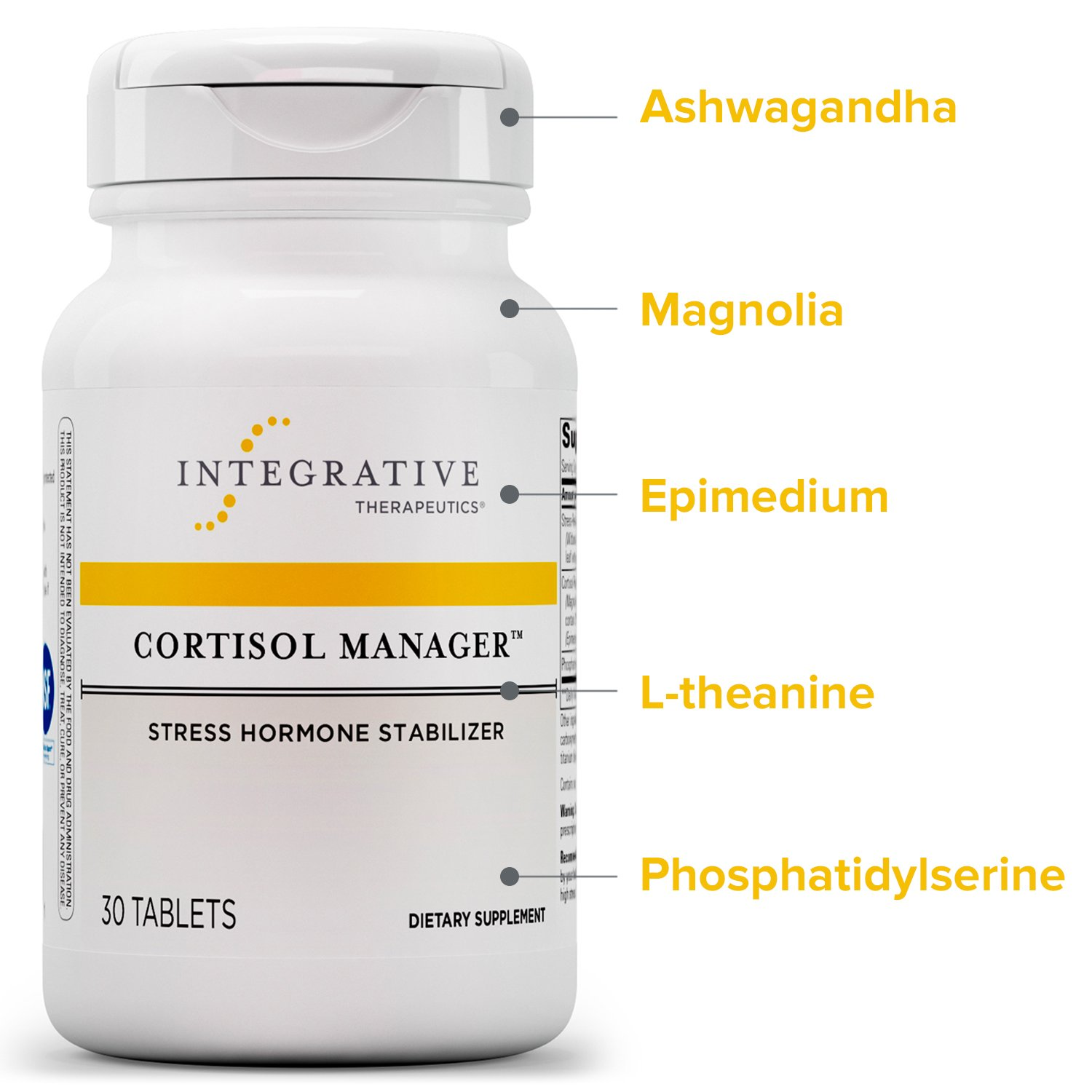 Integrative Therapeutics Cortisol Manager Tablets, 30-Count: Amazon.es: Salud y cuidado personal