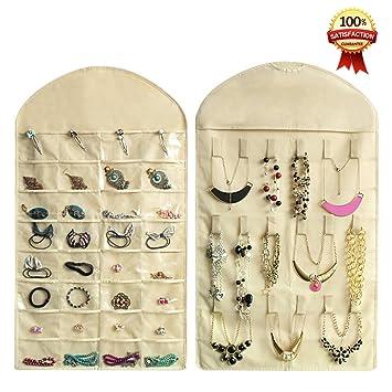 Amazoncom Hanging Jewelry OrganizersRealdios 32 Pockets 18 Hook