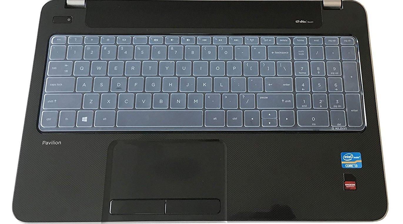 Saco Chiclet Keyboard Skin for HP 15-R060TU 15.6-inch Laptop/ Transparent