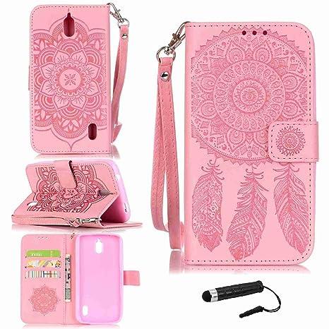 Funda Para Huawei Y625 , pinlu® Alta Calidad Función de plegado Flip Wallet Case Cover Carcasa Piel PU Billetera Soporte Con Ranuras Campanula Rosa