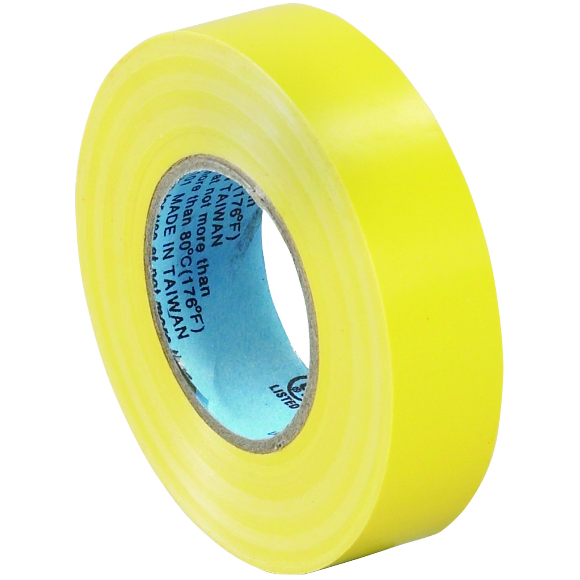 BOX BT96461810PKY Yellow Electrical Tape, 20 yd. Length, 3/4'' (Pack of 10) by Box