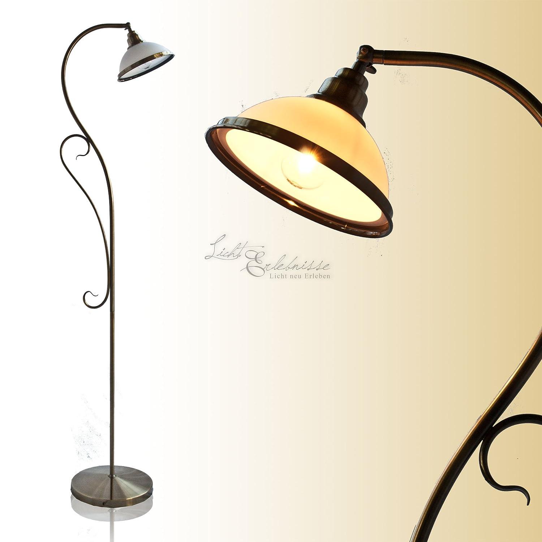 Edle Stehleuchte Im Jugendstil In Bronze E27 Fassung Stehlampe Fr Wohnzimmer Amazonde Beleuchtung