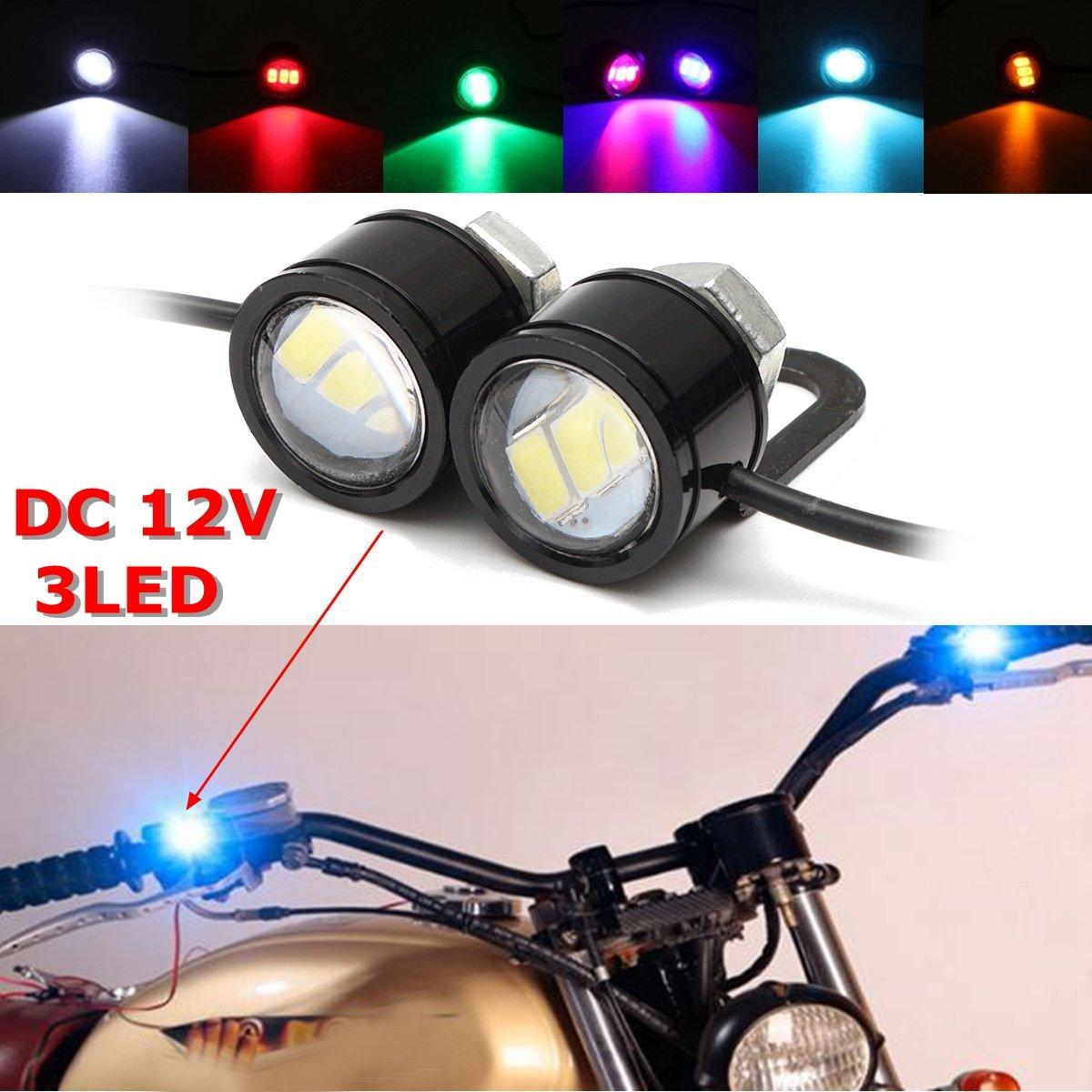 New 2pcs LED Eagle Eye Lamp Strobe Flash DRL Bicycle Motorycle Car ATV Light 12v