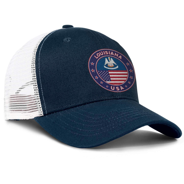 AkrCreative USA Louisiana Men//Women Style Hip Hop Hats Snapback Cap