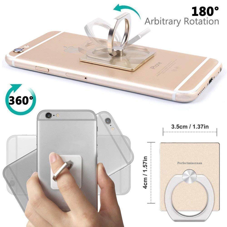 3f0a573767e Perfectmiaoxuan Anillo Soporte movil telefono,Soporte de Coche para 360  °rotación teléfono Anillo Grip Ring Holder para Tablet PC Smartphone Teléfono  móvil ...
