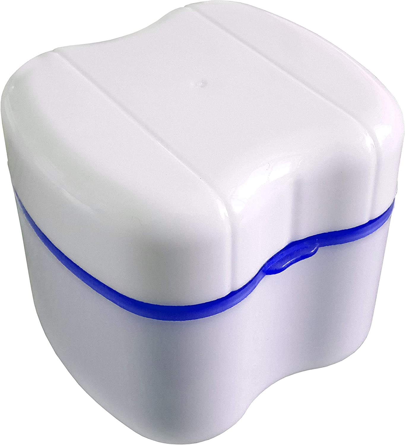 Strong Denture Box with Simple Retrieval Tab, Perfect To Safe Guard Dentures and Valuables, Easy To Open, Store and Retrieve (True Blue): Home & Kitchen