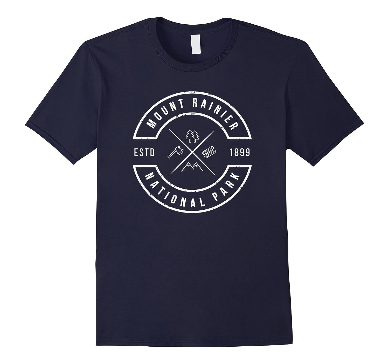 Mount Rainier National Park T Shirt Washington Emblem WA-Vaci