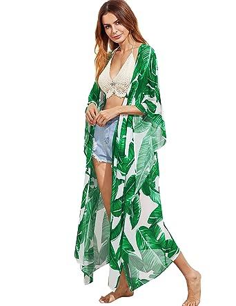 Palm Print Kimono