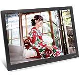 デジタルフォトフレーム,15.4 インチ デジタルフォトフレーム 1280x800 フルHD解像度 LCDバックライト液晶パネル 写真・動画・音楽 リモコン操作 カレンダー機能 オートパワー 自動 オン オフ 機能