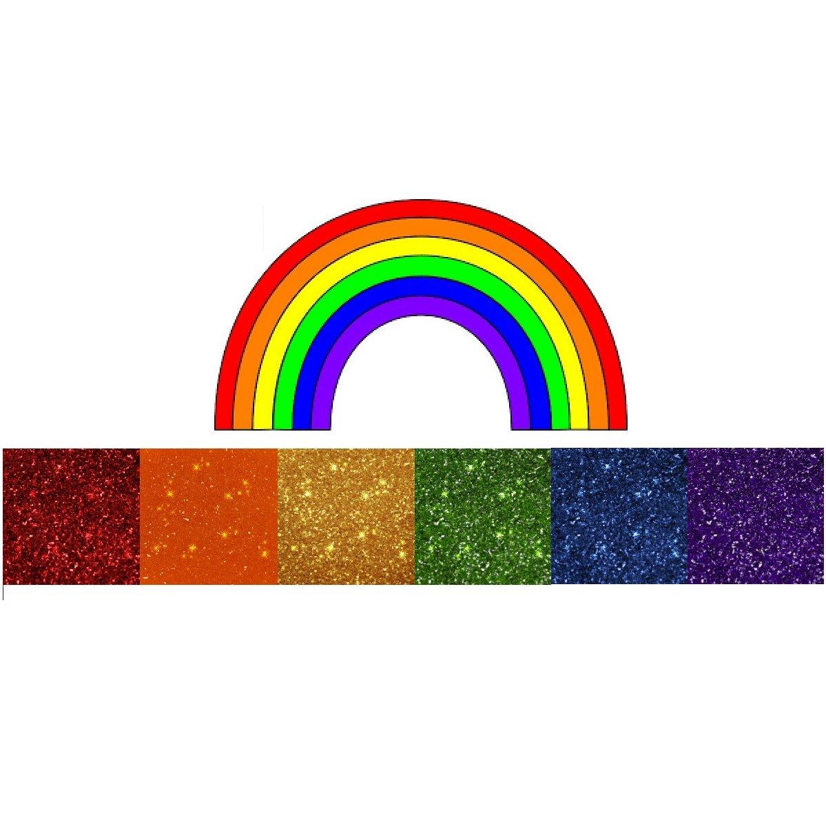 Rainbow Dust 100% Fully Edible Cake Sparkle Glitter Sugarcraft - Rainbow Colours