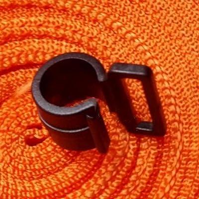 50pcs/lot Tente de camping Auvent de caravane Pole Plastique Tente intérieure Crochets C Clips NEUF