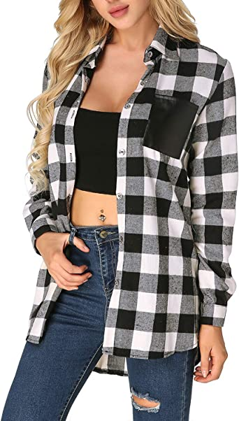 ZANZEA - Camisa de manga larga para mujer, talla mini, muselina