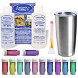 Epoxy Tumblers Kit with Glitter for Tumblers, Includes Amazing Clear Cast Epoxy for Tumblers, Silicone Epoxy Resin Brush…