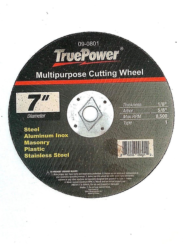 TruePower 7 Multi Function//Purpose Cut Off Wheel One Blade Cuts All Gino Development Inc 09-0801