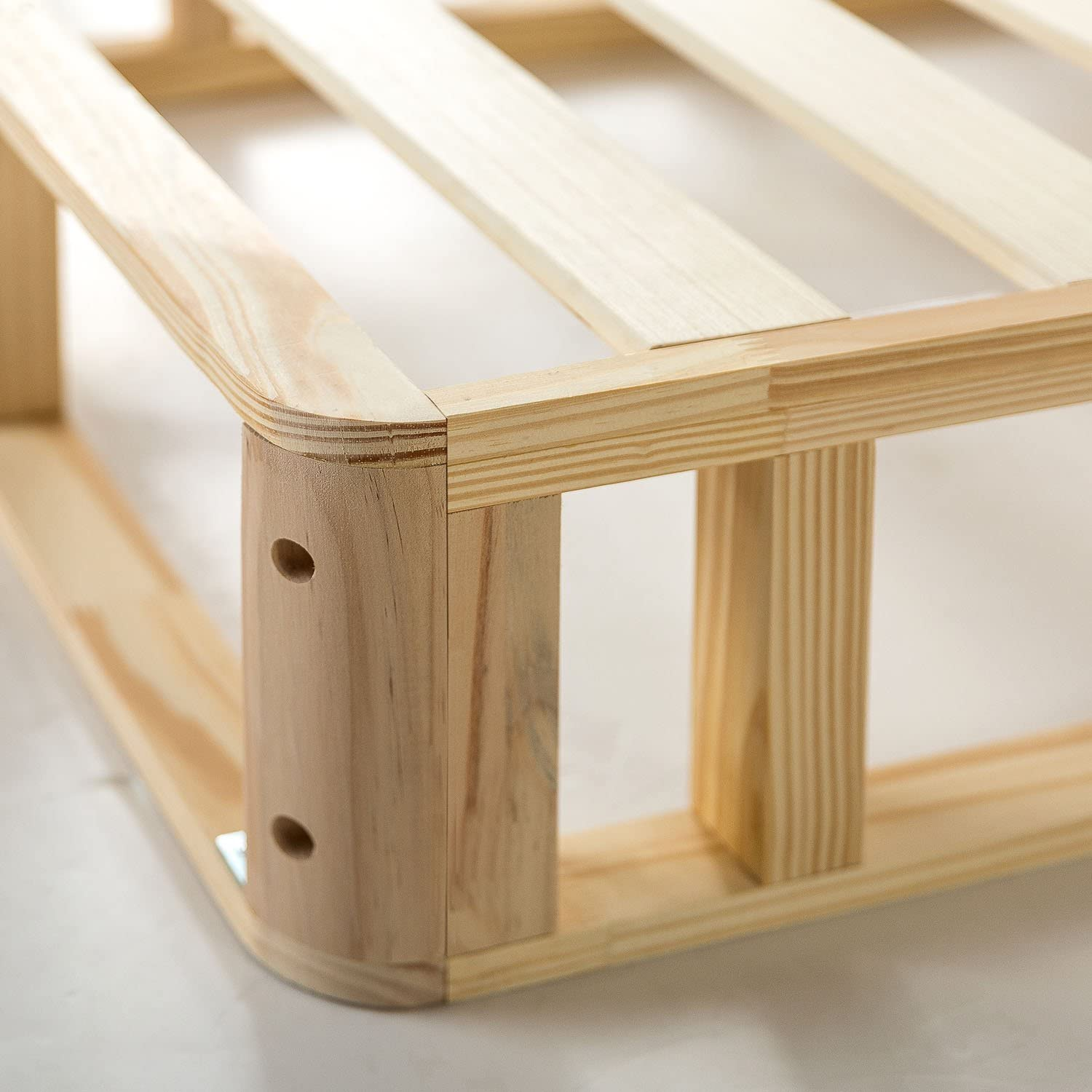 Zinus Edgar 4 Inch Wood Box Spring / Mattress Foundation / Sturdy Wood Structure / Low Profile / Easy Assembly, King: Furniture & Decor