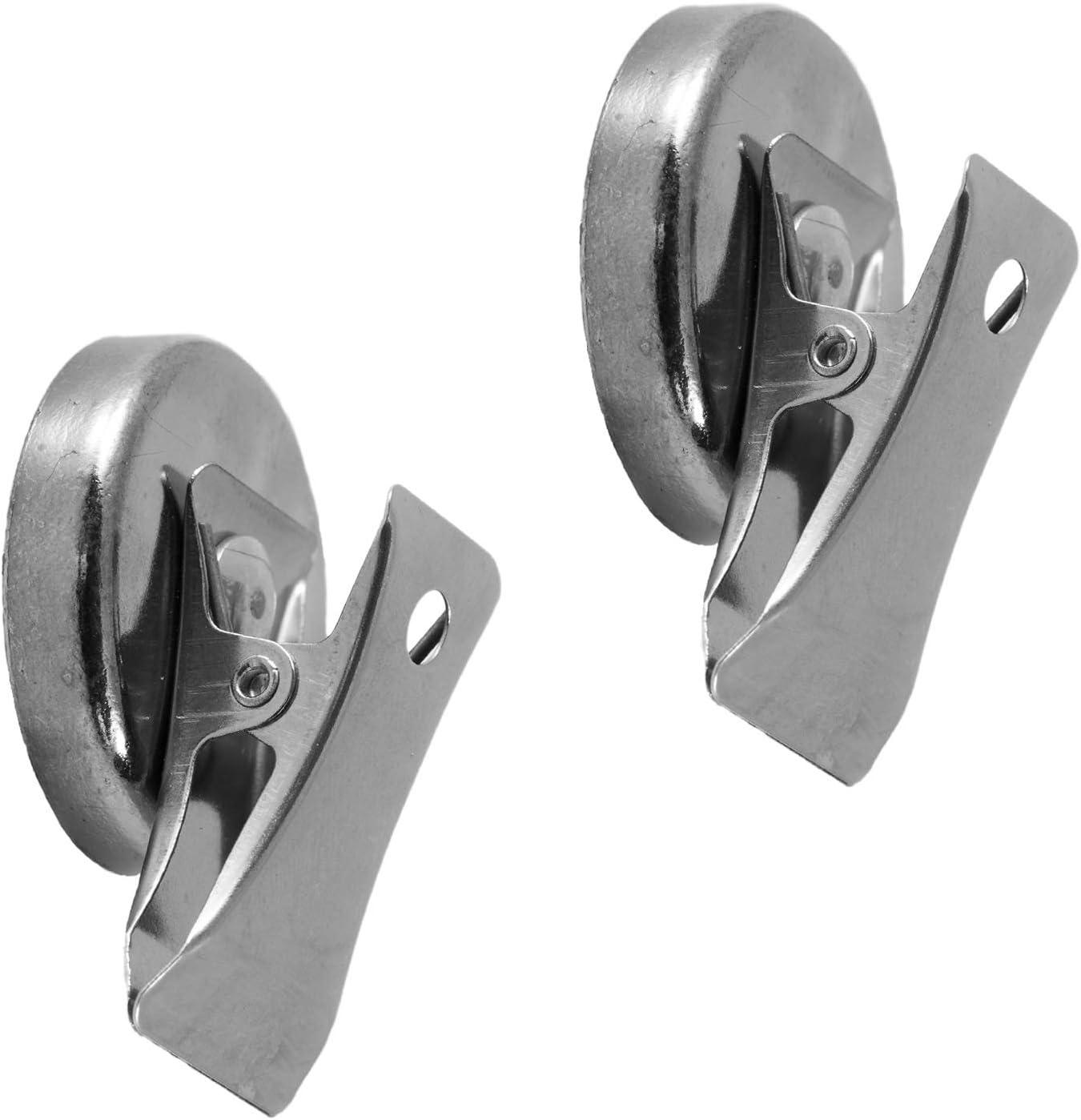 lavagna magnetica 2 pezzi verticali bacheca morsetti magnetici in super ferrite per frigorifero pi/ù di 2 kg di forza di tenuta, Magnetastico clip magnetiche extra forti in metallo e cromate