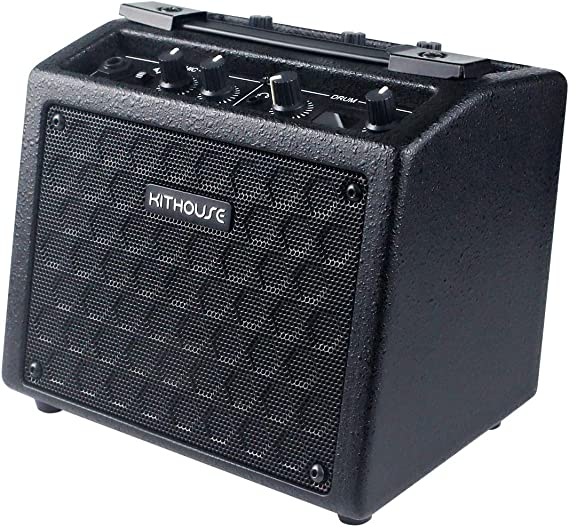 Kithouse B9 Electric Guitar Amp Rechargeable Bass Guitar Amplifier Portable with 18 Types Drum Beats