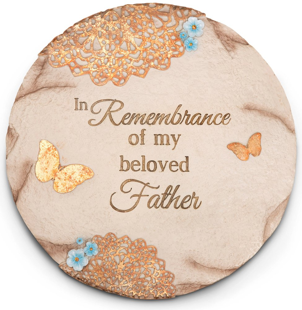 Pavilion Gift Company 19060 Light Your Way Memorial Garden Stone, 10-Inch, Beloved Father
