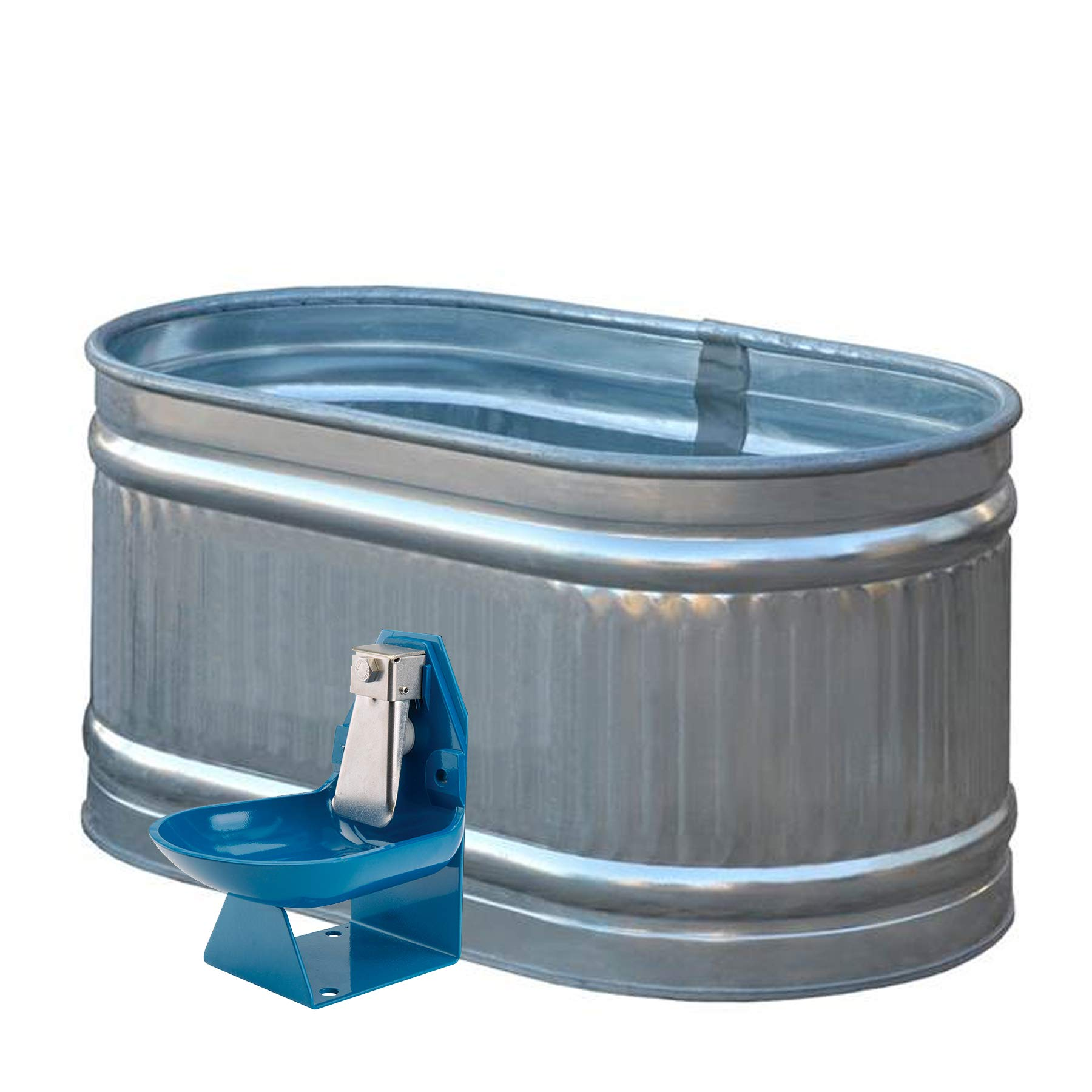 Trojan Speciality Products Gravity Flow Barrel Pig Waterer by Trojan Speciality Products