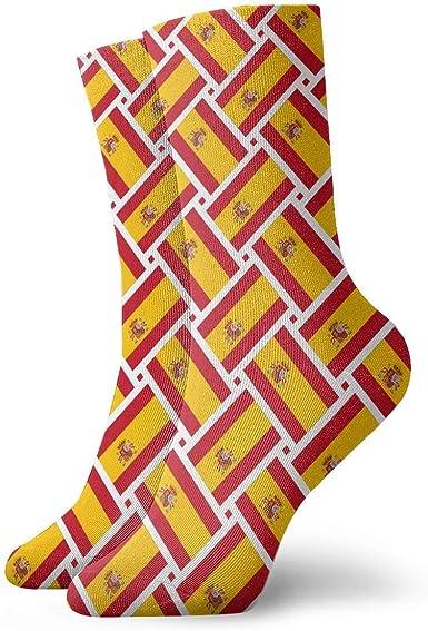 yting Calcetines casuales de España Bandera de tejido de tobillo ...