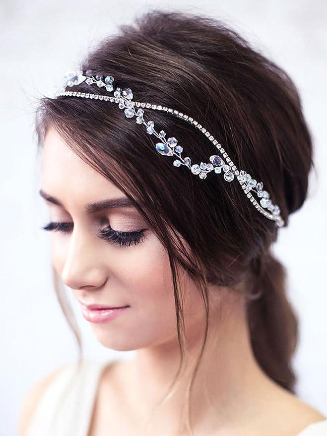 Silver Hair Vine Bridal Hair Vine Silver Headpiece Rustic Bridal Headpiece Pearl And Crystal Hair Vine HMH03794