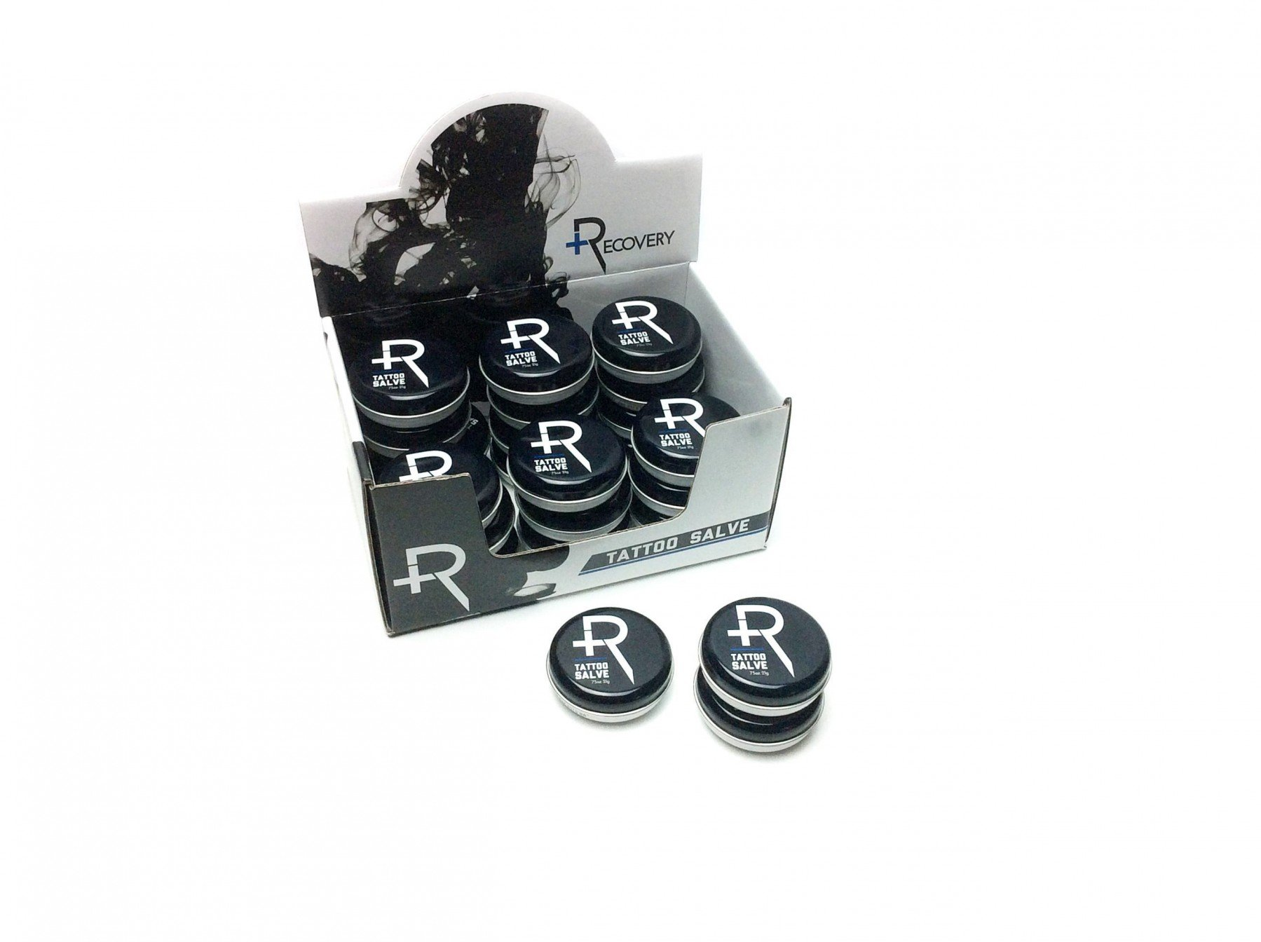 Recovery Aftercare Tattoo Salve Display Case of 24 .75oz Tins by Recovery