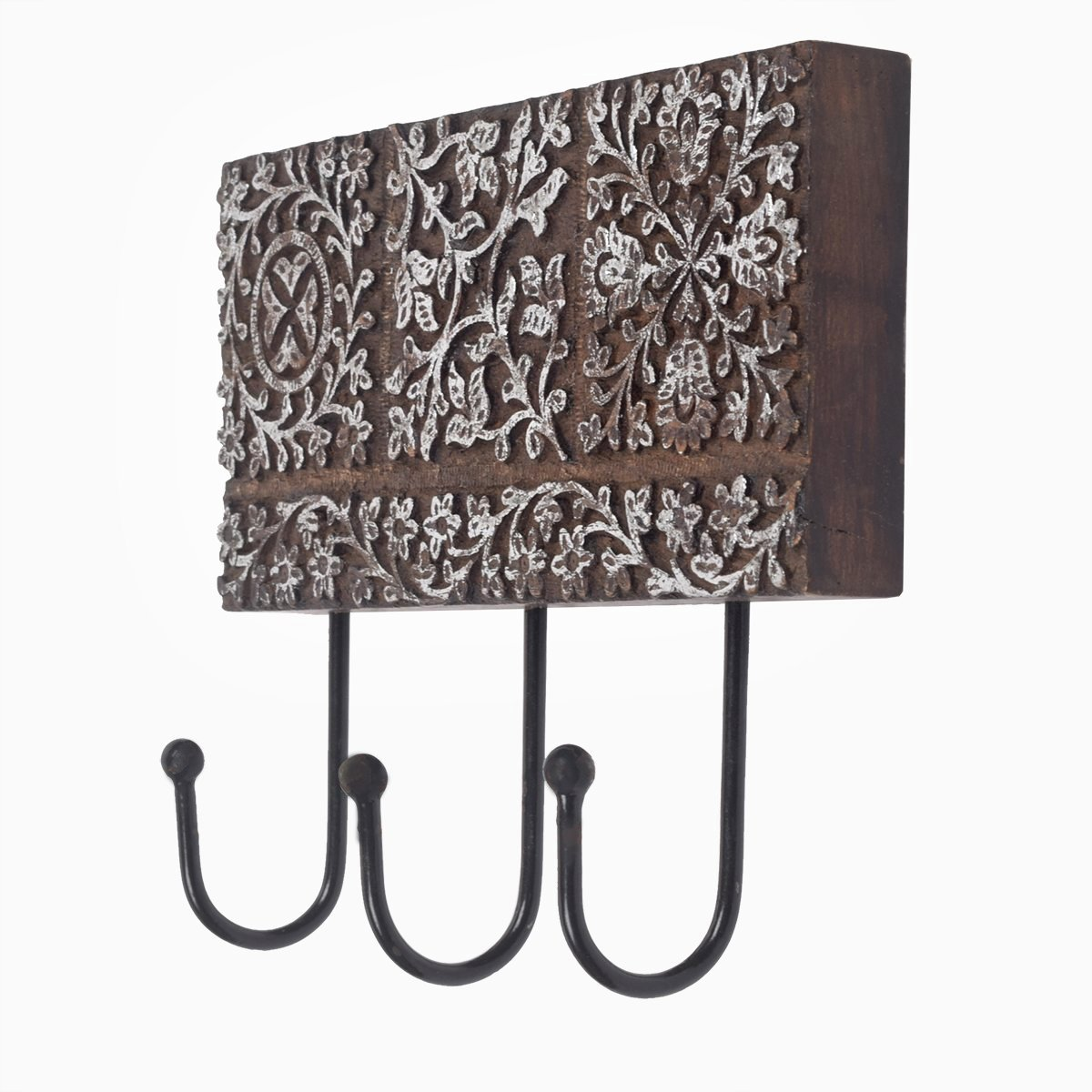 Vintage Wooden Hook Wall Hanger Coat Hooks Key Hat Scarf