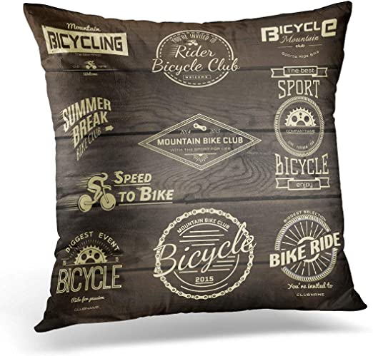 how to use decorative pillows amazon com emvency throw pillow cover bike bicycle badges and how to use throw pillows on a bed emvency throw pillow cover bike bicycle