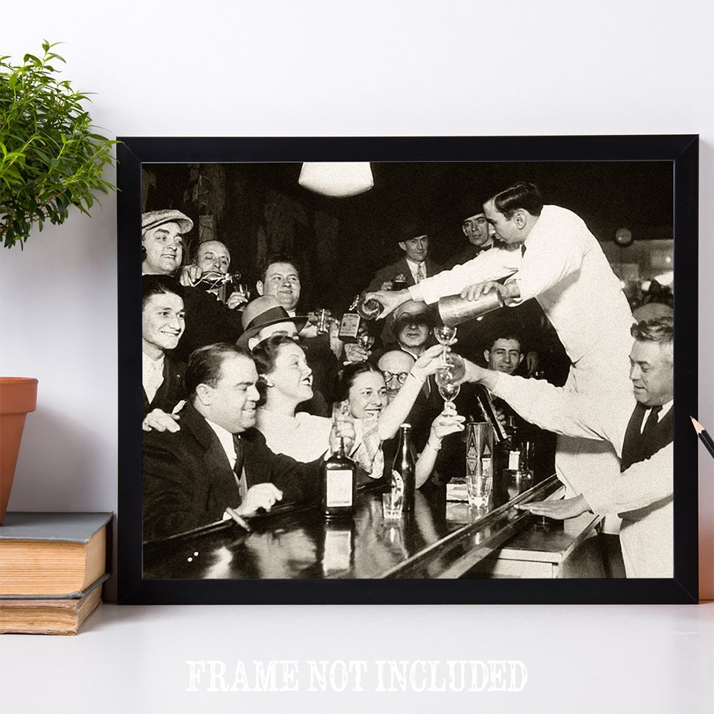 End of Prohibition Great Vintage Bar Decor 11x14 Unframed Print Lone Star Art Belly Up