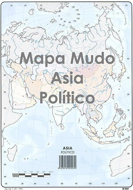 Mapa Mudo SELVI Color Din-A4 Asia Político, Caja x50: Amazon.es ...