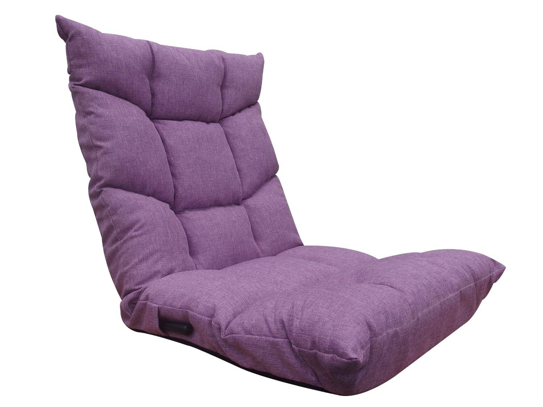 ネクスト(Next) 座椅子 ブラン 低反発ウレタン レバー式 14段階 リクライニング パープル B06XY77SF3 パープル パープル