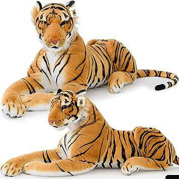 Tigre de Peluche Tumbado - Animal de Peluche Extragrande ...