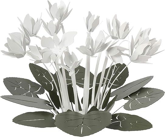 Arti e Mestieri - Centro de mesa decorativo, verde y blanco, diseño moderno: Amazon.es: Hogar