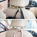 Woogor Universal Car Vehicle Back Seat Headrest Hanger Holder Hook for Bag Purse Cloth Grocery. Set of 2 Random Colors.