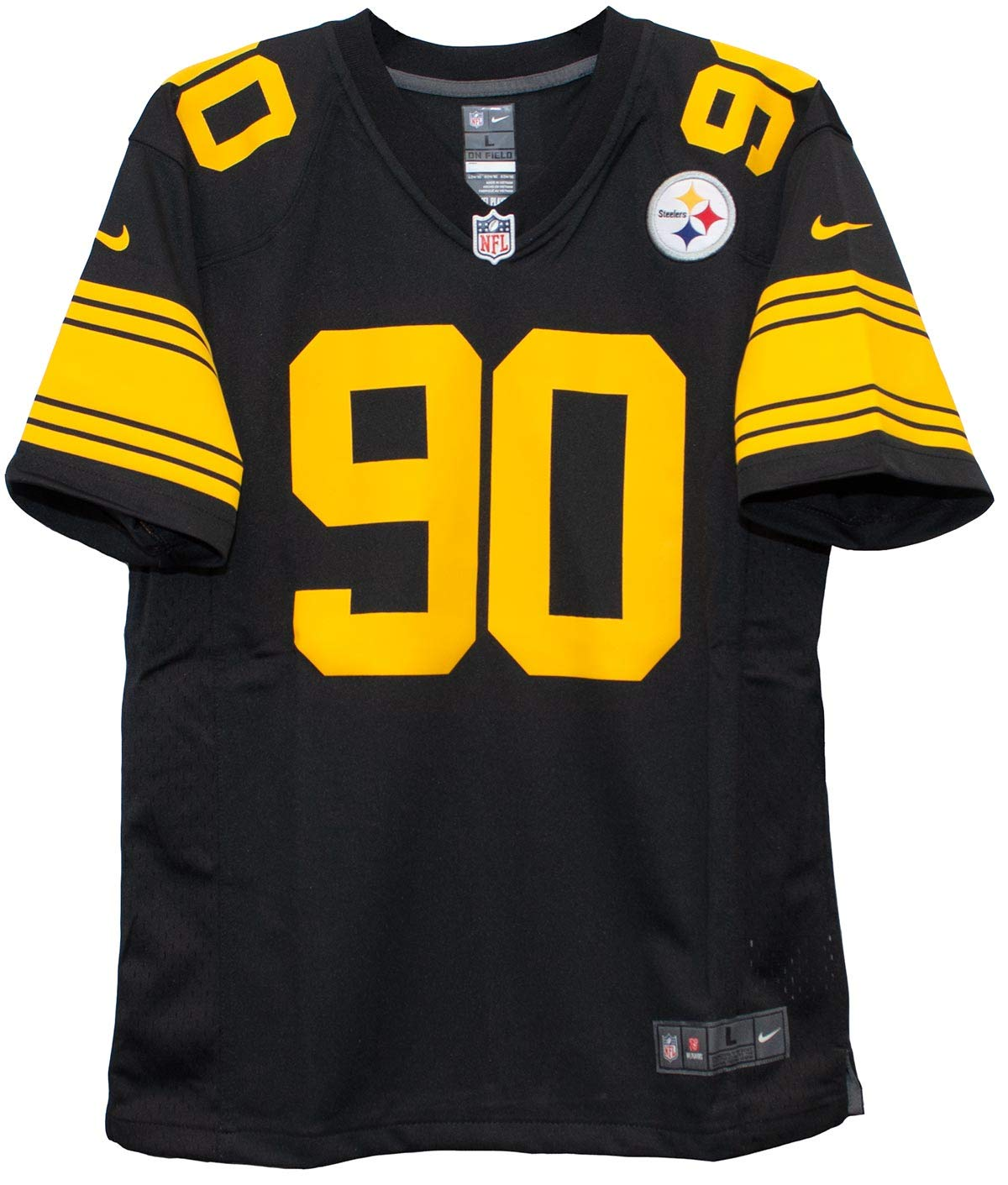 purchase cheap de9b2 47543 Nike TJ Watt Pittsburgh Steelers Youth Color Rush Game Jersey