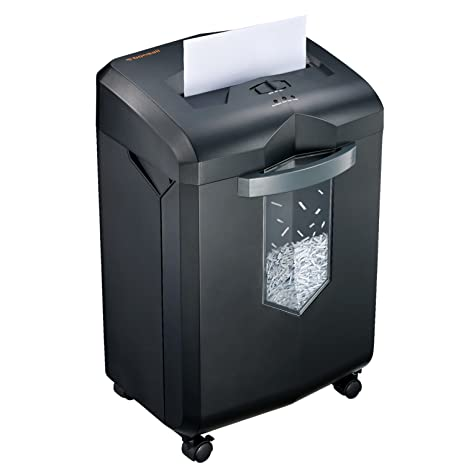 Bonsaii EverShred C149-C 18-Sheet Heavy Duty Cross-Cut Paper/CD/Credit Card  Shredder with 6 Gallon Pullout Basket and 4 Casters, 60 Minutes Running