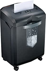 Bonsaii Updated 60-Minute Heavy-Duty Micro-Cut Paper Shredder, 14-Sheet Shredding Capacity for Office and Home Use, Destroys Credit Card/Staples/Clips, 6-Gallon Pullout Wastebasket, Black (C149-D)