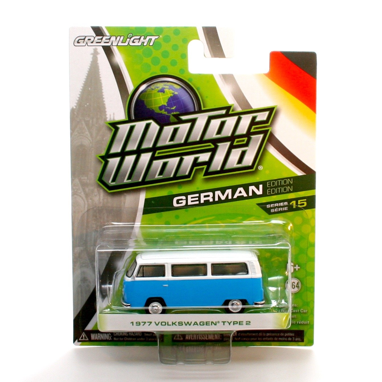 1977 VOLKSWAGEN TYPE 2 (Blue/White) * Motor World Series 15 * 2016 Greenlight Collectibles German Edition 1:64 Scale Die-Cast Vehicle by Motor World SG_B01C5AJH3S_US