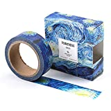The Colors of Van Gogh Sticky Washi Tape Notebook Masking DIY Decoration Tag (The Starry Night)