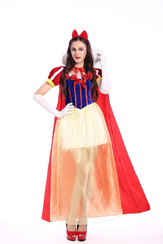 Disfraz largo de princesa blanca para mujer, disney, disfraz para ...
