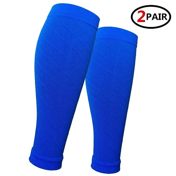 53bb6ede88 (2 Pairs) Compression Calf Sleeves Men & Women (20-30mmhg) - Best Footless  Compression Socks Shin Splints, Running, Leg Pain, Nurses & Maternity  Pregnancy ...